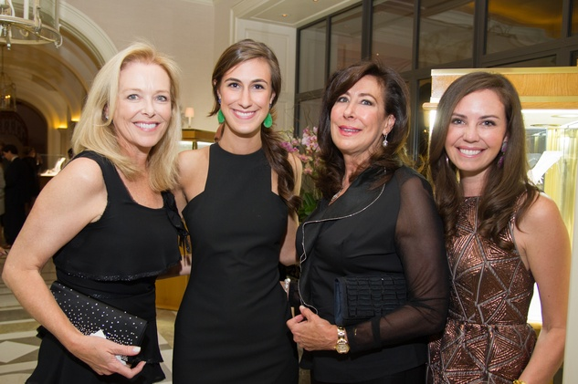 51 Laura Sweeney, from left, Vestita Kuntz, Vesta Kuntz and Hallie Kuntz Daugherty at the Zadok jewelry dinner October 2014