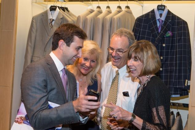 M Penner Magazine launch party April 2013 Brett Riesenfeld, Arlene Lassin and Steve Lassin, Judy Penner