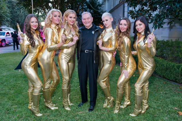 Dave Ward and Bond Girls at the True Blue Gala November 2014