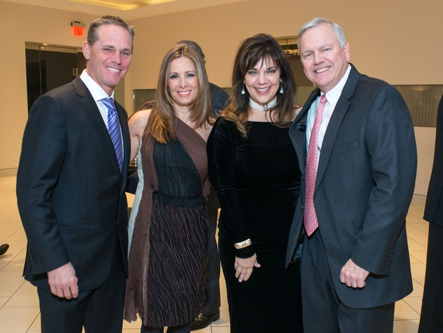 Astros Diamond Gala, Jan. 2016, Craig Biggio, Patty Biggio, Terri Havens, John Havens