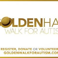 logo for Golden Hat Walk for Autism 2014