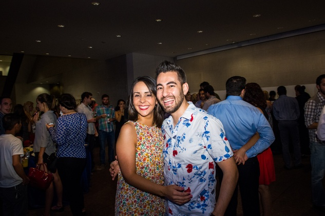 2 Angelica Cobb and Carlos Mier at the MFAH Art Crowd party September 2014
