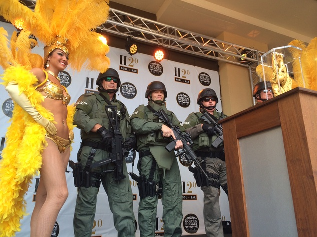 Showgirl, police at Golden Nugget Biloxi opening