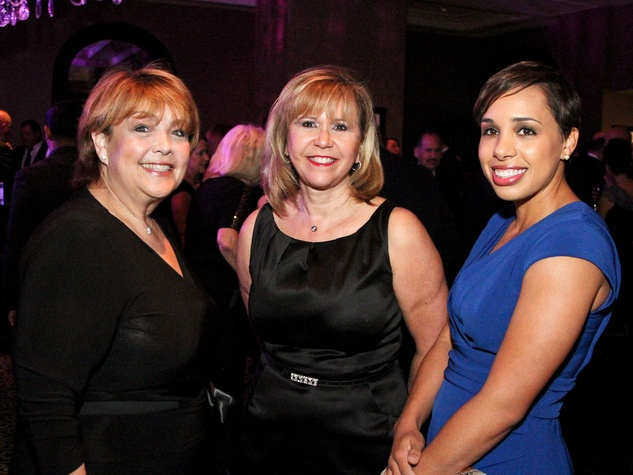 Fund for Teachers dinner, October 2012, Marilu Garza, Cyndy Garza Roberts, Lacey Dalcour