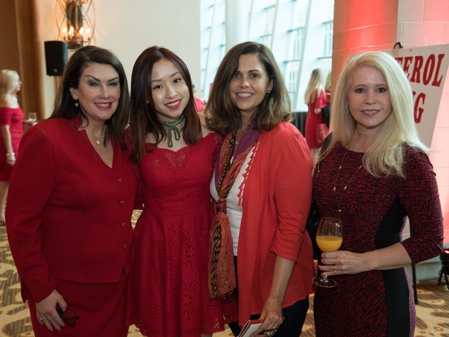 Sheila Reynolds, Emily Reynolds, Camilla Bloom, Elizabeth McCurdy, Go Red Fort Worth 2018
