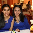 70 Anita Naik, left, and Azmae Bhatti at the Chloe Dao luncheon for Pratham December 2014