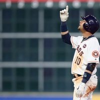 Astros Yuri Gurriel in Game 3 of World Series