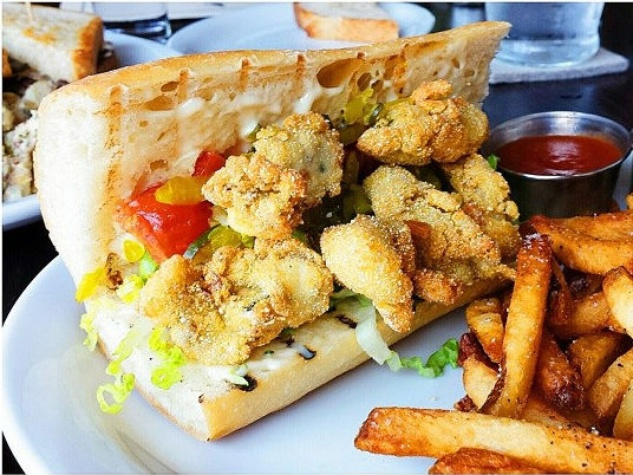 Blackbird and Henry oyster po'boy