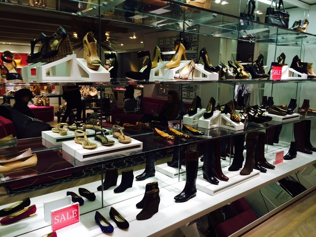 Elaine Turner New York shoe wall