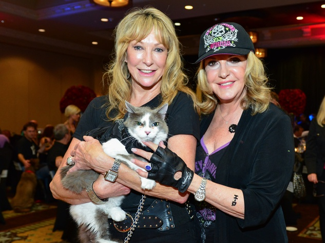 26 Hershey Grace with Snickers, left, and Francie Willis at Bad to the Bone June 2014.