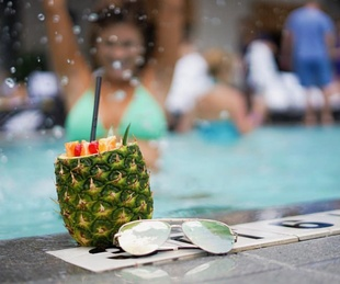 JW Marriott Austin pool drink