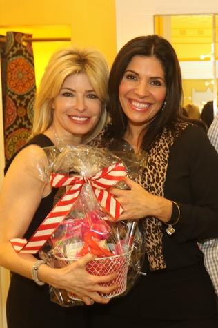 News, Ellevate Network party, Dec. 2015 Nancy Golden, Claudia Sierra