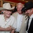 David Berg event June 2013 Richard Racehorse Haynes, from left, Dick DeGuerin, Kinky Friedman