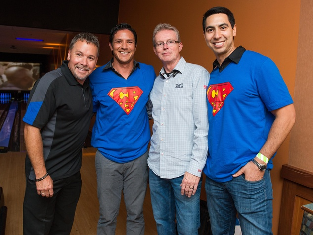 Chester Pitts bowling event Johnnie Ray, Brian Ching, Gregory Grant, Ashley Olivier