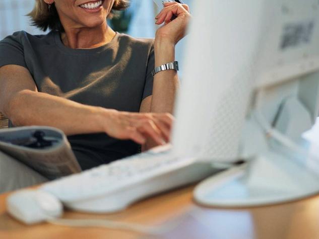 business woman, computer
