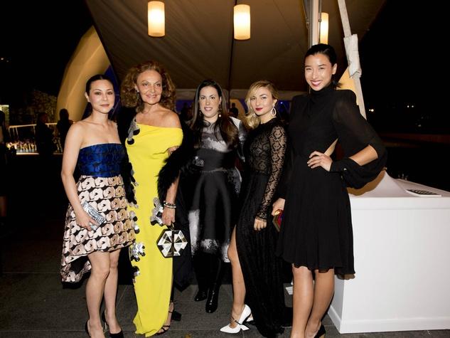 China Chow, Diane von Furstenberg, Mary Katrantzou, Nasiba Adilova, Lily Kwong, Two x Two