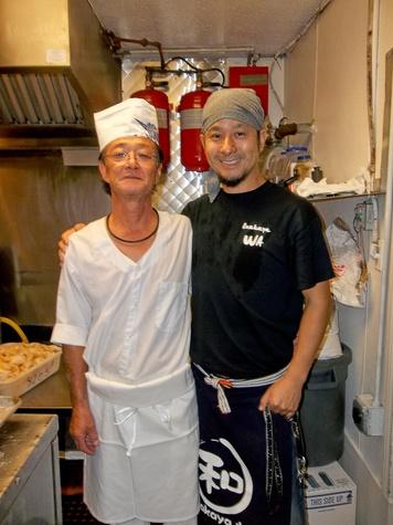 Izakaya-Wa Houston Japanese restaurant in Memorial area October 2013 Chef Hajime Kubokawa, left, with owner Akira Asano