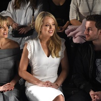 Marla Maples, Tiffany Trump, Ross Mechanic at Taoray Wang New York Fashion Week show