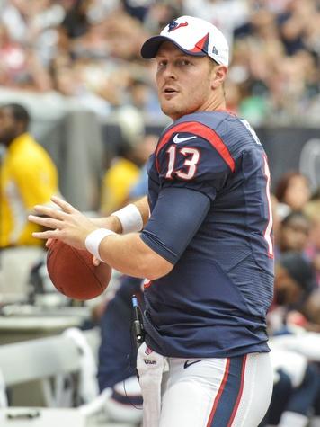 Texans vs. Saints August 2013 T.J. Yates warming up