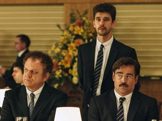 John C. Reilly, Ben Whishaw, and Colin Farrell in The Lobster
