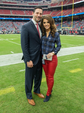 3 Brad and Joanna Marks at the Texans vs. Eagles sideline party November 2014