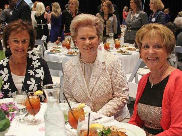 Betty Murray, Anne Newbury and Martha Beaird, just say yes luncheon