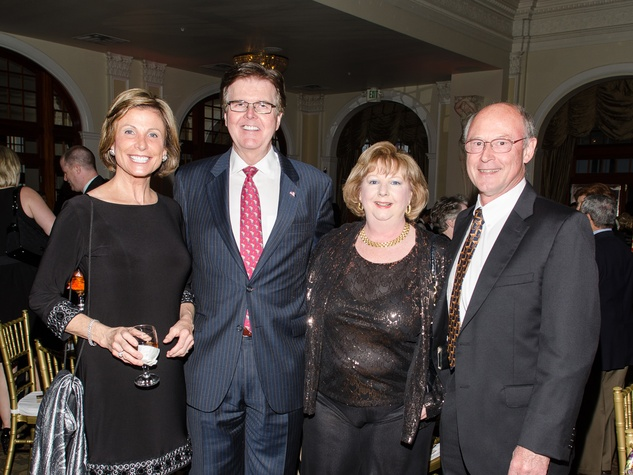 42 Jan and Dan Patrick, from left, Cathy Baker and Andy Pedder at the Be An Angel Gala May 2014