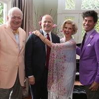 94 Jackson Hicks, from left, Patrick Summers, Terrylin Neale and Milton Townsend at the Houston Grand Opera Tea March 2015