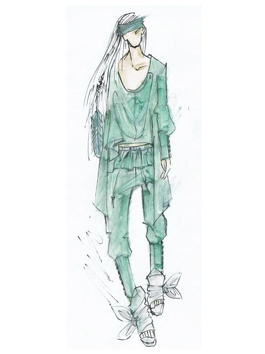 Fashion Week spring summer 2014 Nicholas K sketch