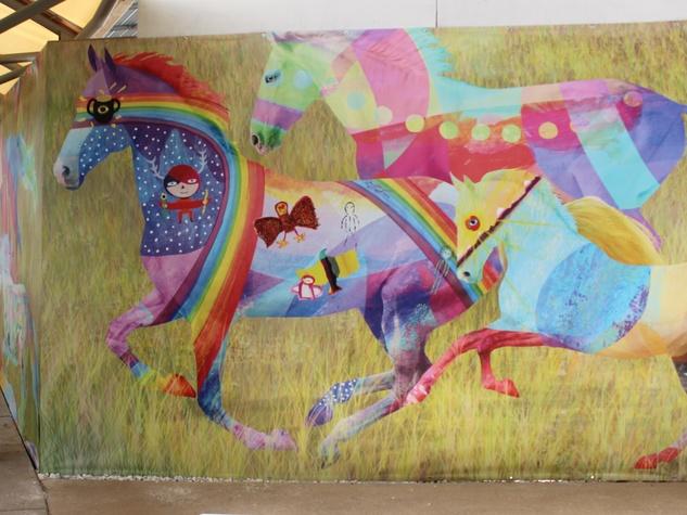 MD Anderson_mural_art_circus