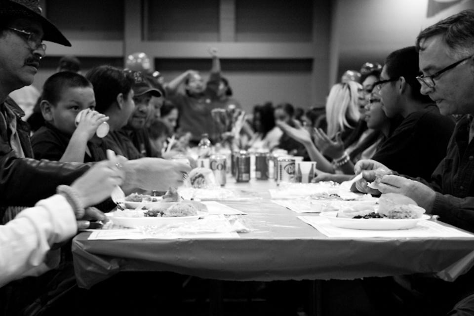 Austin Photo Set: News_Feast of Sharing_Nov 2011_eating