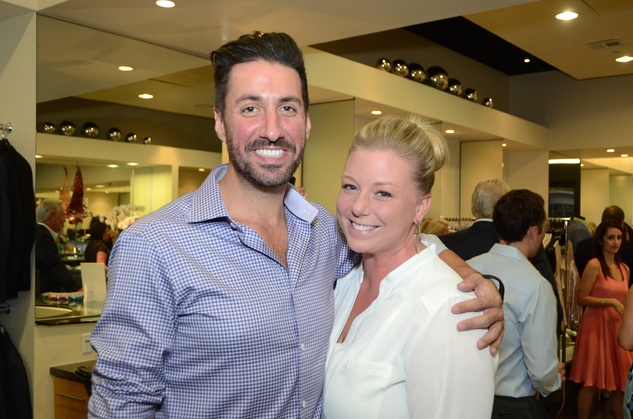 62 Dominic Milanese and Amanda Morman at the Festari for Men Summer Soiree August 2014
