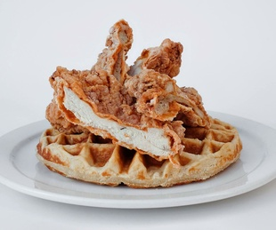 24 Diner chicken and waffles Austin restaurant