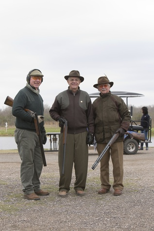Reed Morian, from left, Phil John and Richard Ruiz at The Fine Art of Shooting March 2015