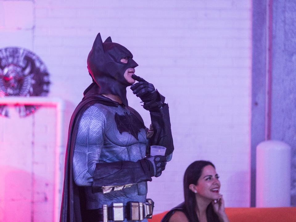 Vampires and Vixens Halloween party Batman