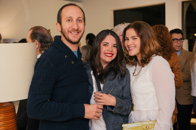 15 Sam Cole, from left, Nora Villarreal and Sarah Dunn at the Lynn Goode Vintage opening reception March 2014