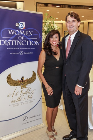 Carol and Paul Beck at the Women of Distinction announcement party October 2014