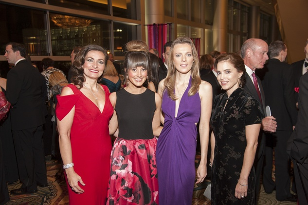 8 Leslie Stratta, from left, Kelsey Tarpinian, Yulia Pearce and Nancy Calles at Heart Ball February 2015