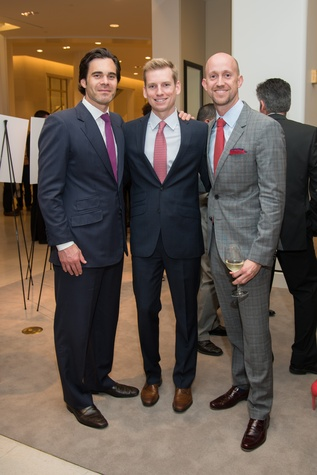 Scott Sanders, from left, Kyle Dutton and Mike Mahlstedt at the Leukemia & Lymphoma Society Man & Woman of the Year Kick-off April 2015