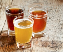Glasses of craft beer