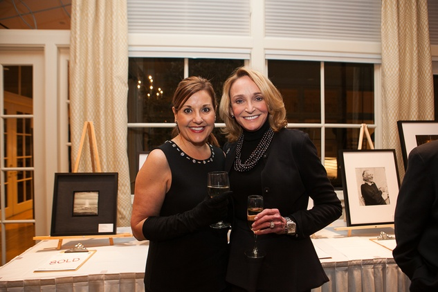 16 Shelley Calton, left, and Kelly Bering at the Houston Center for Photography Print Auction February 2014