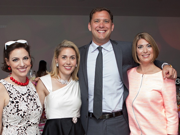 61 Cullen Geiselman, from left, Leslie Hull, Ryan Gordon and Claudia Schmuckli at the Blaffer Gala May 2014