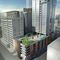 Texaco building downtown Houston high-rise rendering August 2013 1