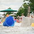 Sand castle building and dive in moves at Four Seasons Dallas
