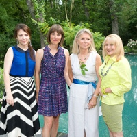 Le grand Concours Macaron Houston June 2013 Karine Parker, Sylvie Christophe, Marie-Laure Reed and Sharon Brier