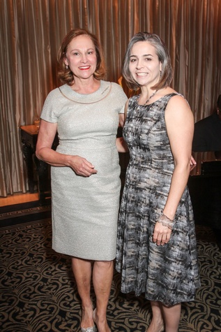 Minnette Boesel, Debbie McNulty at Houston Arts Alliance performance by Audra McDonald