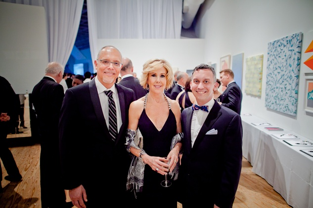 17 Gil Bruvel, from left, Laura Rathe and Dean Daderko at the CAMH Gala March 2015.
