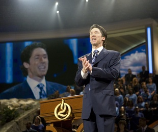 Joel Osteen preaching at Lakewood Church