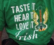 Katie Griff's St. Patrick's Day celebration March 2014 Taste It Hear It Love It T-shirt