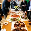 The buffet table at Slavka Glaser's FotoFest reception March 2014